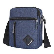 Men's Messenger Bag Crossbody Shoulder Bags Men Small Sling Pack Waterproof Oxford Packs For Work Bu