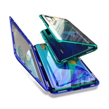 Роскошный Металлический флип-чехол для huawei Honor 10 10Lite V10, магнитный чехол для телефона, переднее заднее двойное закаленное стекло-броня, View 10, View 10