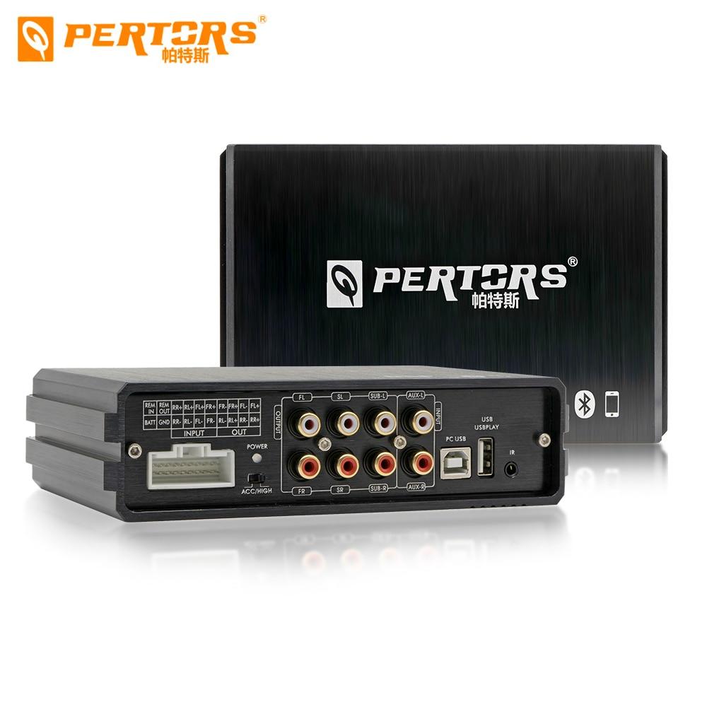 1 Uds. Amplificador Digital de Audio para coche DSP, personalización de automóviles profesionales, Subwoofer, modificación de sintonización de computadora, control remoto ESTÉREO