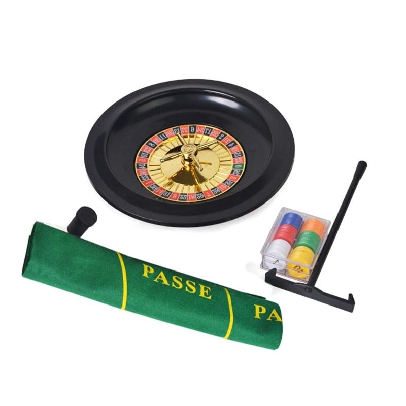 10-дюймовая рулетка, набор игр, рулетка для казино, рулетка с настольной тканью, покерные чипы для бара, KTV, вечеринки, игра Borad-5