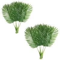 Paquet de 5 feuilles de palmier Faux Faux artificiel plante feuilles vert feuille unique palmier pour la maison cuisine fete fournitures feuilles tropicales deco