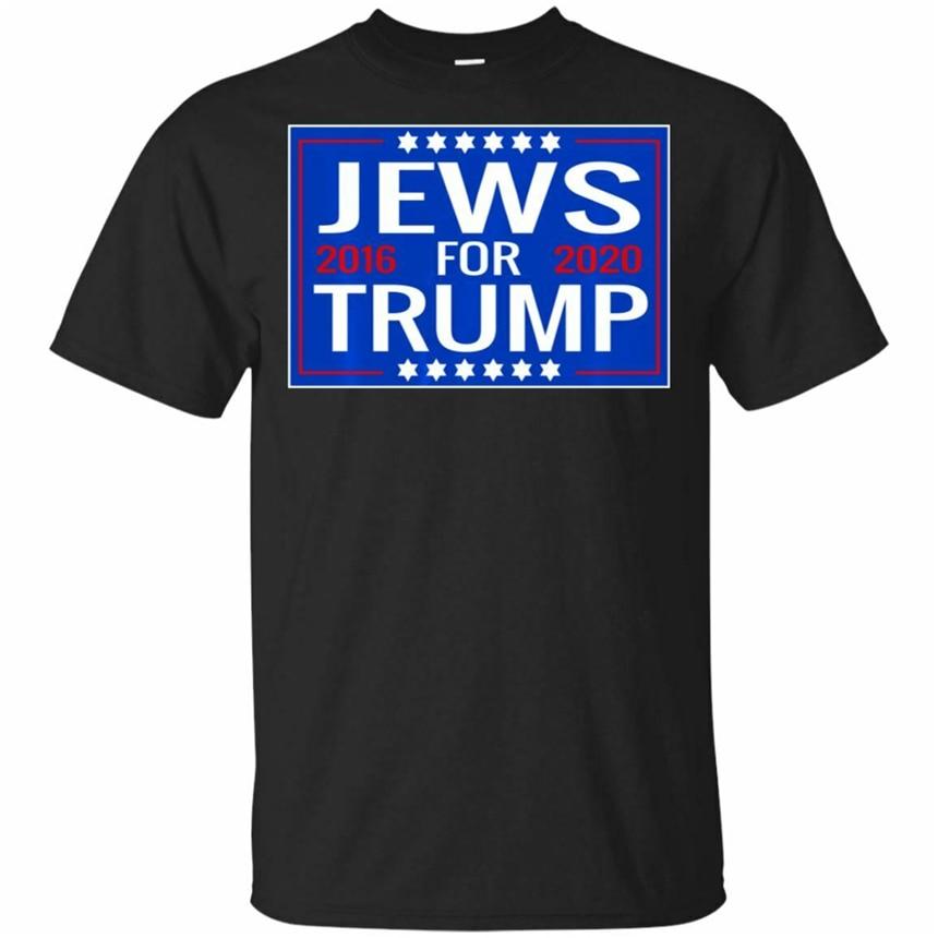 Judios para Trump 2020 hebreo camiseta signo-judío Israel negro, Marina camiseta suelta tamaño Top camiseta