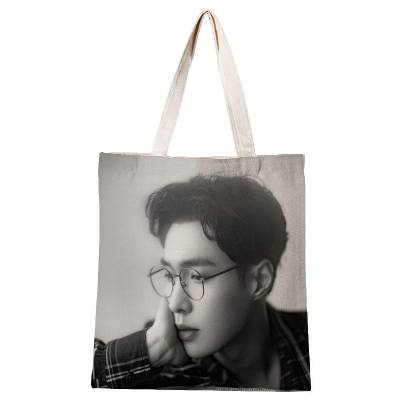 Женские сумки EXO Lay, Холщовая Сумка-тоут, хлопковая ткань, сумки через плечо для женщин, Эко складные многоразовые сумки для покупок