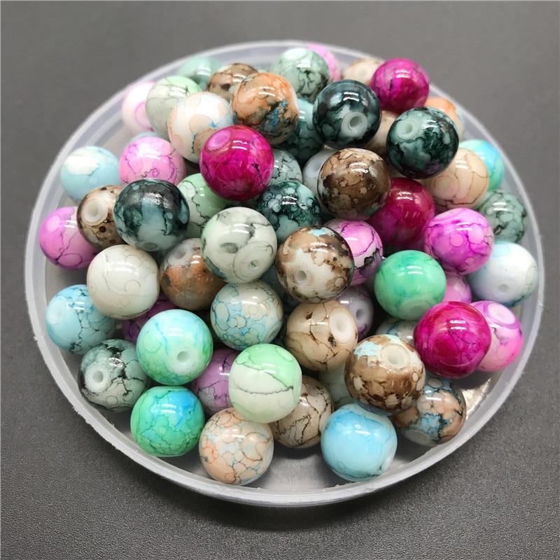 6 8 10mm Multicolor Glass Beads For Jewelry making DIY Earrings Bracelet Necklace #ZZ