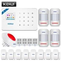 KERUI     systeme dalarme de securite domestique sans fil W18  wi-fi  GSM  433MHz  haute performance