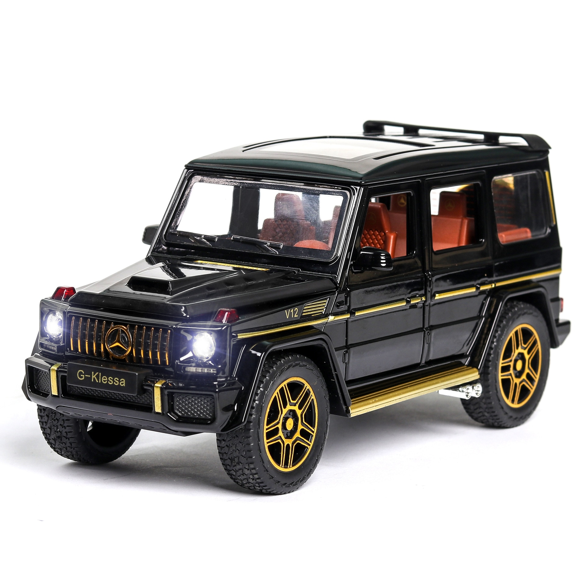 1:24 Toy Car Model Metal Wheels Simulation G65 Alloy Car Diecast Toy Vehicle Sound Light Pull Back Car Toys For Kids Gift 1 24 diecast alloy car model metal car toy wheels toy vehicle simulation sound light pull back car collection kids toy car gift