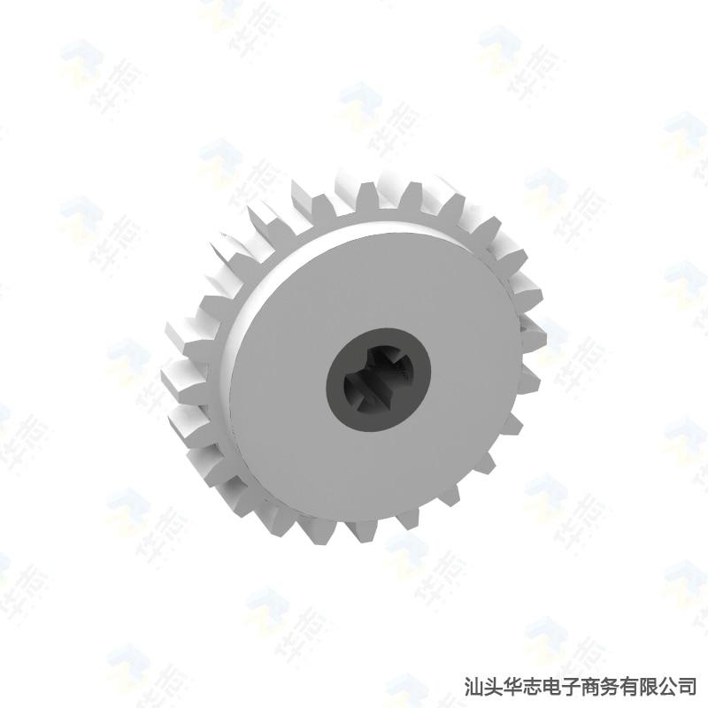 Embrague Technic Gear 24 Tooth con Centro gris oscuro o gris claro MOC DIY piezas de accesorios de bloques de construcción 76244/76019