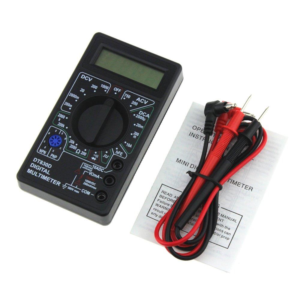 Цифровой мультиметр DT-830D Мини карманный 1999 переменного/постоянного тока AC/DC Вольт Ампер Ом диод hFE Непрерывность тестер Амперметр Вольтметр...