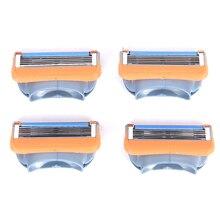 4Pcs/Pack Shaving Blades Men Razor 5 Layers Blades High Quality Powerful Shaver Facial Care Men