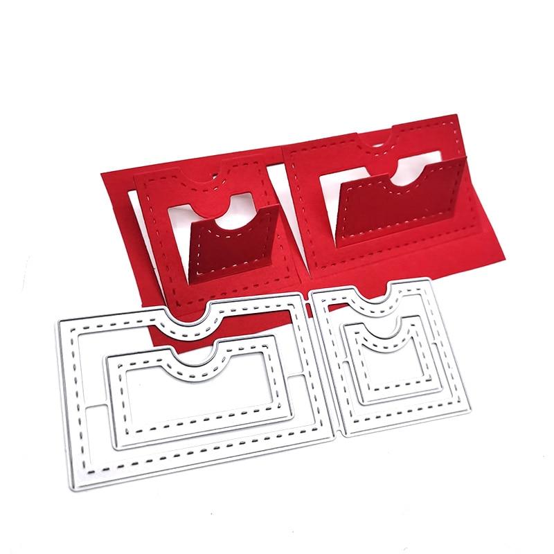 Julyarts tridimensionnel découpé en métal Scrapbook gaufrage dossier pour bricolage Scrapbooking Album Photo