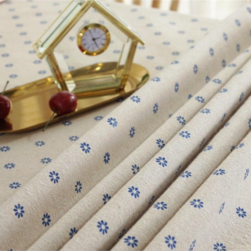 Daisy Printed cotton and linen Blend fabric  DIY sofa curtain tablecloth home decor cotton fabric