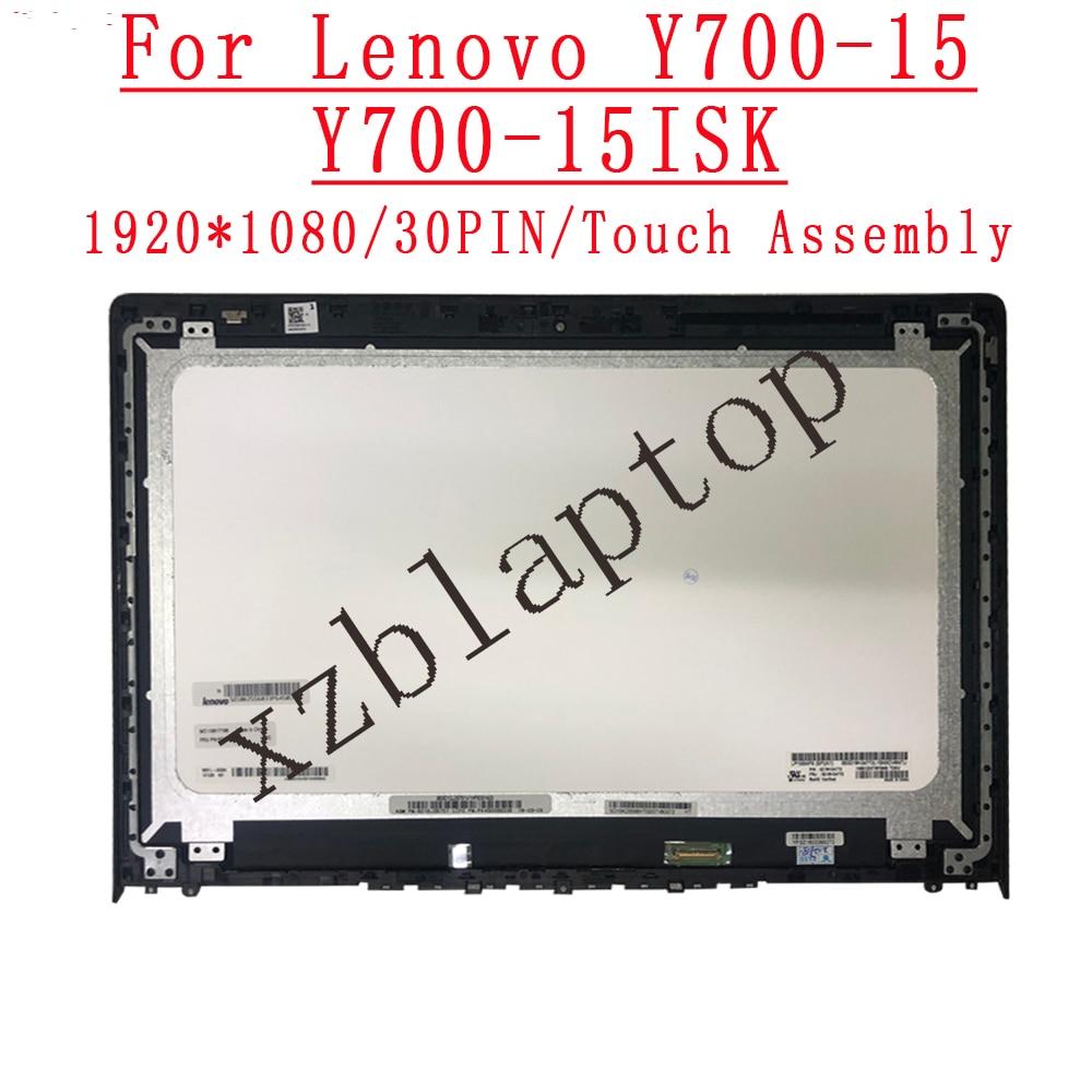 لينوفو ينوفو Y700-15ISK Y700-15 الجبهة الزجاج LCD شاشة عرض لوحة مع الإطار الحافة 15.6 'FHD 1920 * 1080IPS 30pin EDP