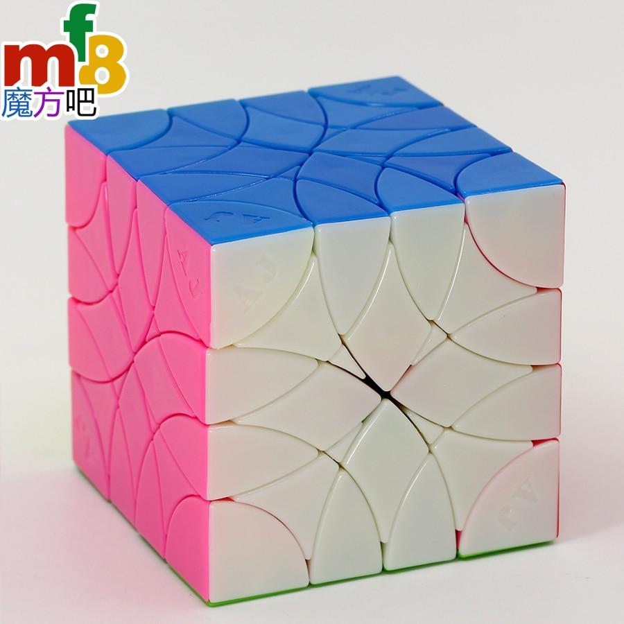 Rompecabezas mágico mf8 cubo AJ rojo algodón Curvy Dino cubo hexaedro stickerless profesional educativo twist puzzles juego cubo Juguetes
