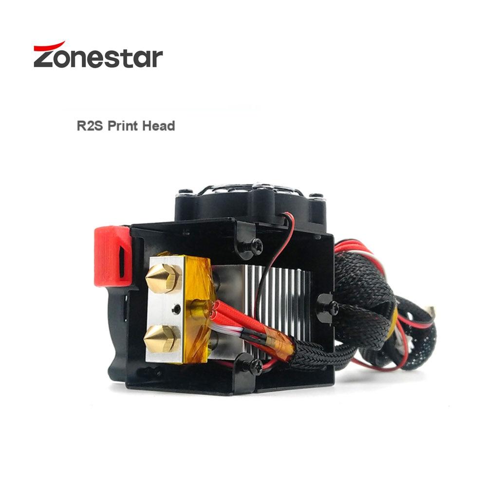 Impresora 3D ZONESTAR, nueva, mejorada, doble Color, R2S, 24V, 2 en 2 salidas, doble extrusora