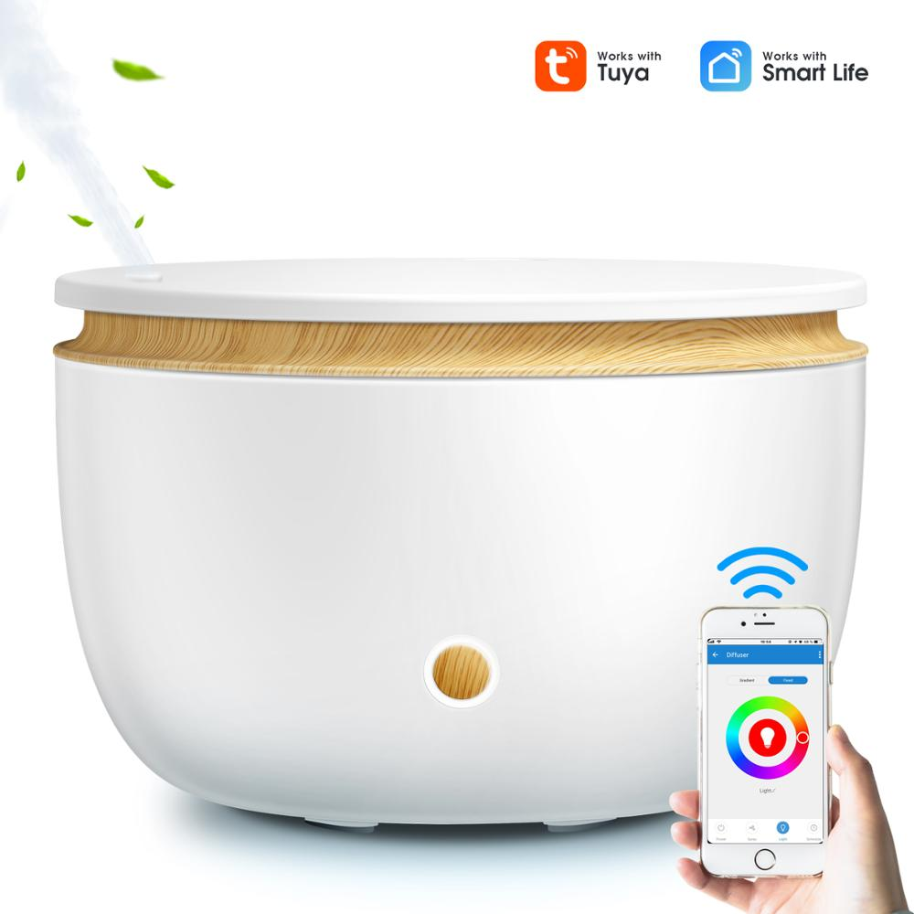 2021 Smart Wifi Wireless Oil Diffuser Air Humidifier App Voice Control Aromatherapy Diffuser