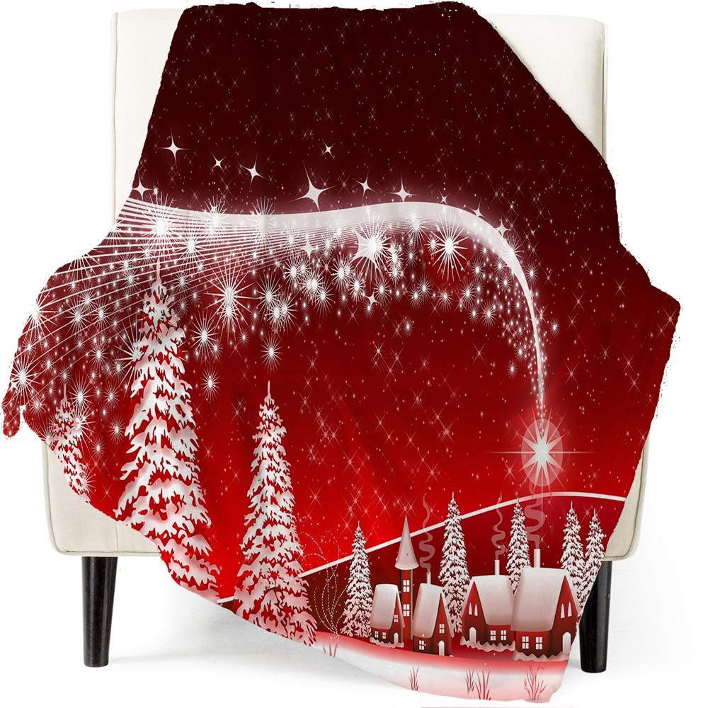 Hot البيع بطانية عيد الميلاد 300g الفانيلا الطباعة غير shedding رائعة الخياطة على الوجهين الصوف بطانية المنزل بطانية