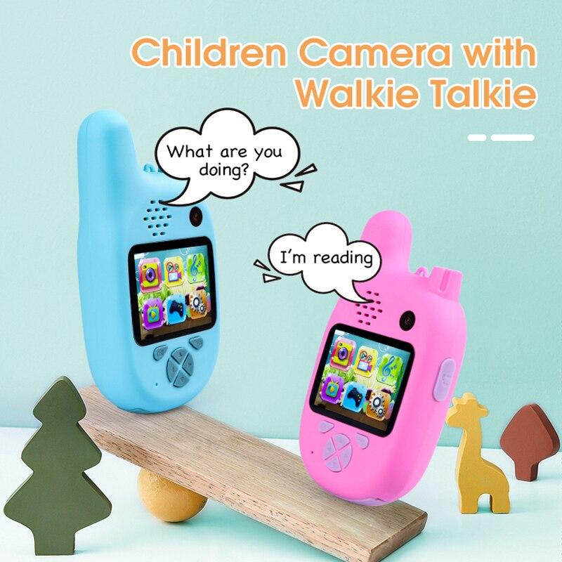 Фото - Детская рация, камера, видеокамера, мини-видео 1080P HD игрушка, рация, видеокамера, MP3 музыкальный плеер, игра, лучший подарок для детей видеокамера
