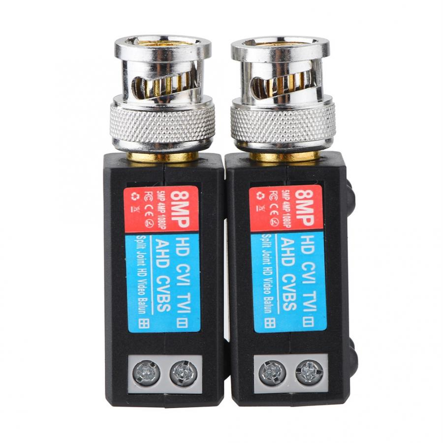 CCTV Twisted BNC 1Channel Passive TVI CVI AHD Video Balun Transceiver 10Pcs /Lot COAX UTP Cable Coaxial Adapter enlarge