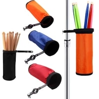 high quality drumsticks bag with drum stick holder mounting clamp waterproof adjustable drum stick storage bags accessories
