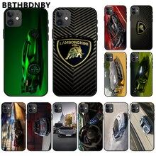 For iphone 11 Luxury Super Run Lamborghini TPU black Phone Case Cover Hull For iphone 11 pro max x xs xr 7 8 plus 6 6s 5 5s 5se