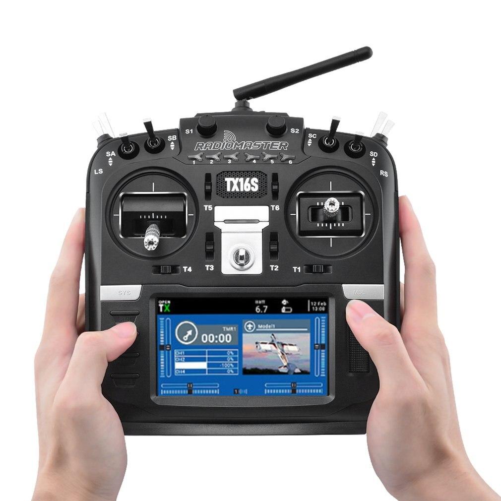 جهاز إرسال radiomester TX16S Edition 2.4G 16CH بمستشعر قاعة Gimbals OpenTX مع تحكم بالراديو عن طريق التحكم العددي بواسطة الحاسوب والجلد