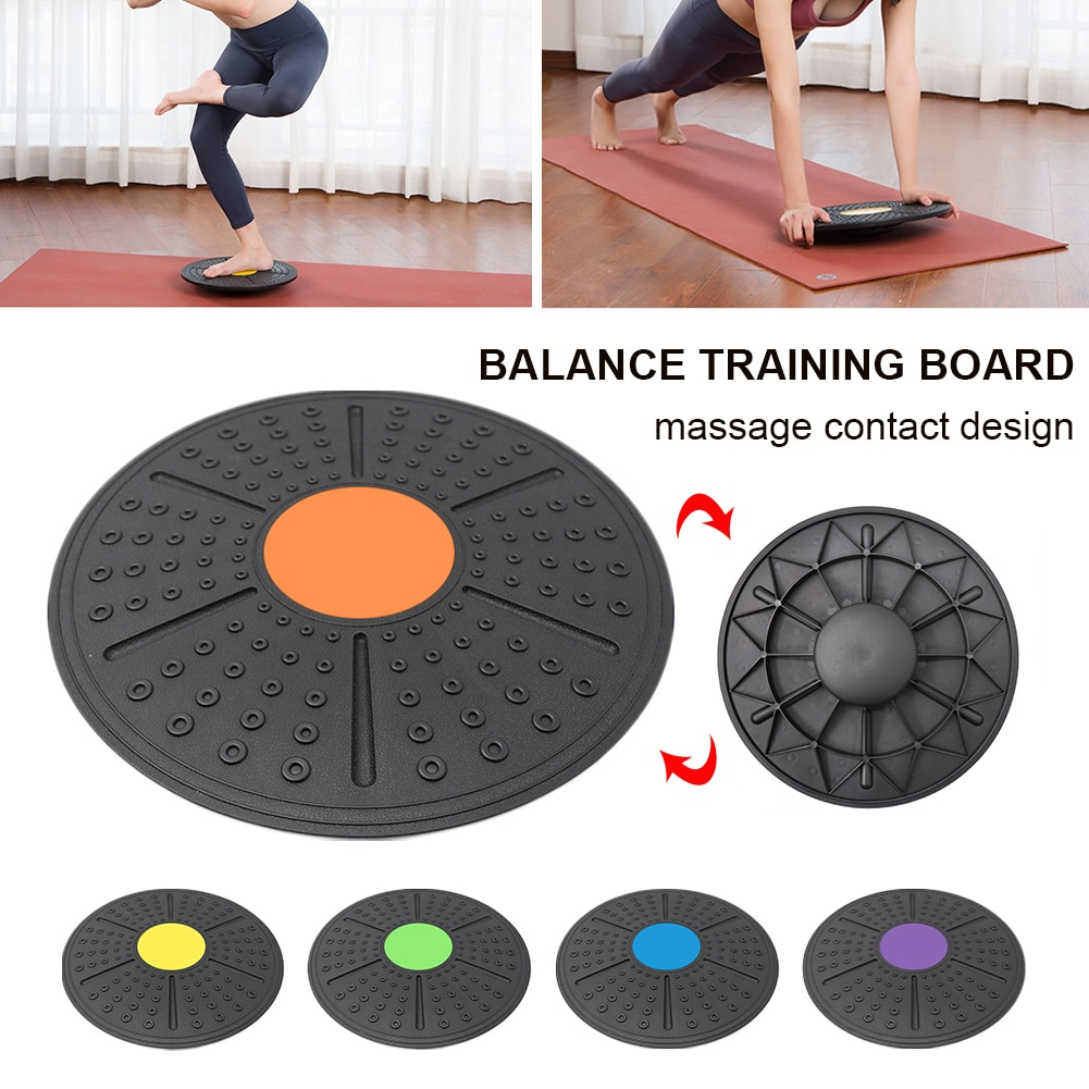 Wobble Board Round Balance Board Home Gyms Exercise Wobble Balance Board Non-Skid Bump Surface 37cm universal healthy wobble balance board stability disc yoga sport training fitness exercise waist wriggling round plate game
