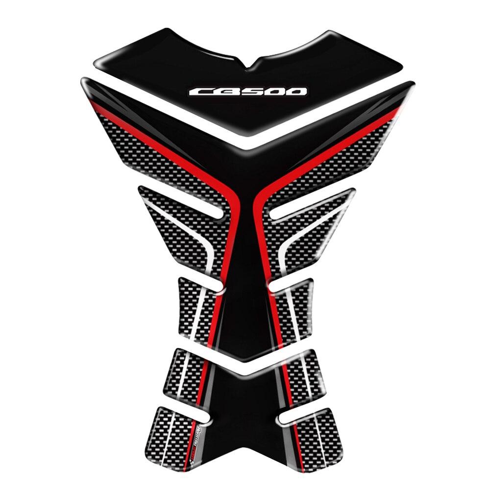 Accesorios 3D de moda para motocicleta, Protector para almohadilla de depósito, pegatinas para motocicleta, calcomanía, funda para Honda CB500 F X CB500F CB500X