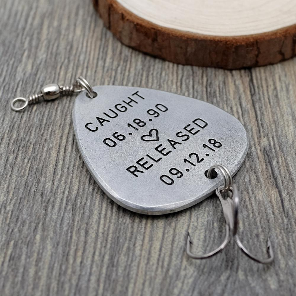 Personalized Fishing Lure Gift For Him Fisherman Custom Lure Anniversary Gift Father's Day Lure Gift for Dad Him Husband Gift