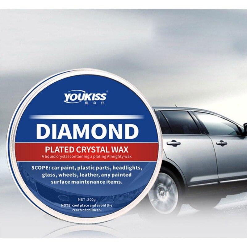 200ML cuidado del coche Reparación de arañazos de cuero de coche cera de cristal de cera dura pintura de cera de mantenimiento pintura de diamante revestimiento de coche polaco