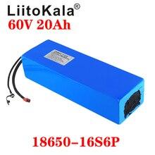 LiitoKala-Batería de 60V para bicicleta eléctrica, 60V, 20Ah, batería de iones de litio, 60V, 1500W, batería de patinete eléctrico