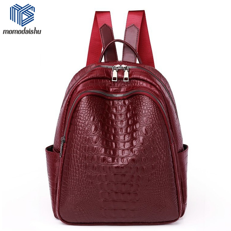 Backpack Women 2021 Soft Leather Backpack Brand Luxury Designer Large Capacity Casual Travel Bag  Cr