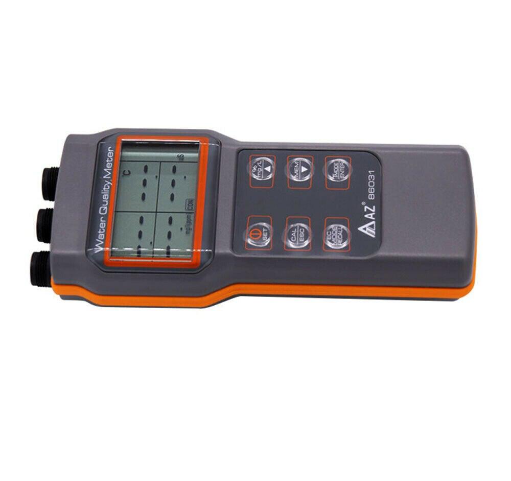 نوعية المياه متر AZ86031 اختبار الأكسجين المذاب مقياس درجة الحموضة pH الموصلية الملوحة مقياس الحرارة