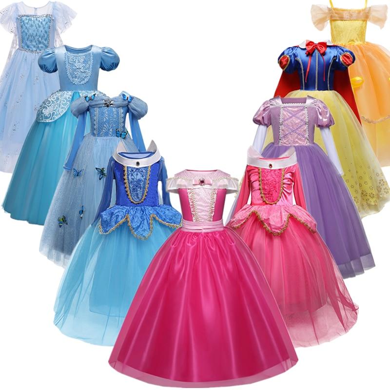 Платье принцессы для девочек; Костюм на Хэллоуин; Праздничная одежда для дня рождения для детей; Vestidos Robe Fille; Нарядное платье для девочек|Платья для девочек| | АлиЭкспресс