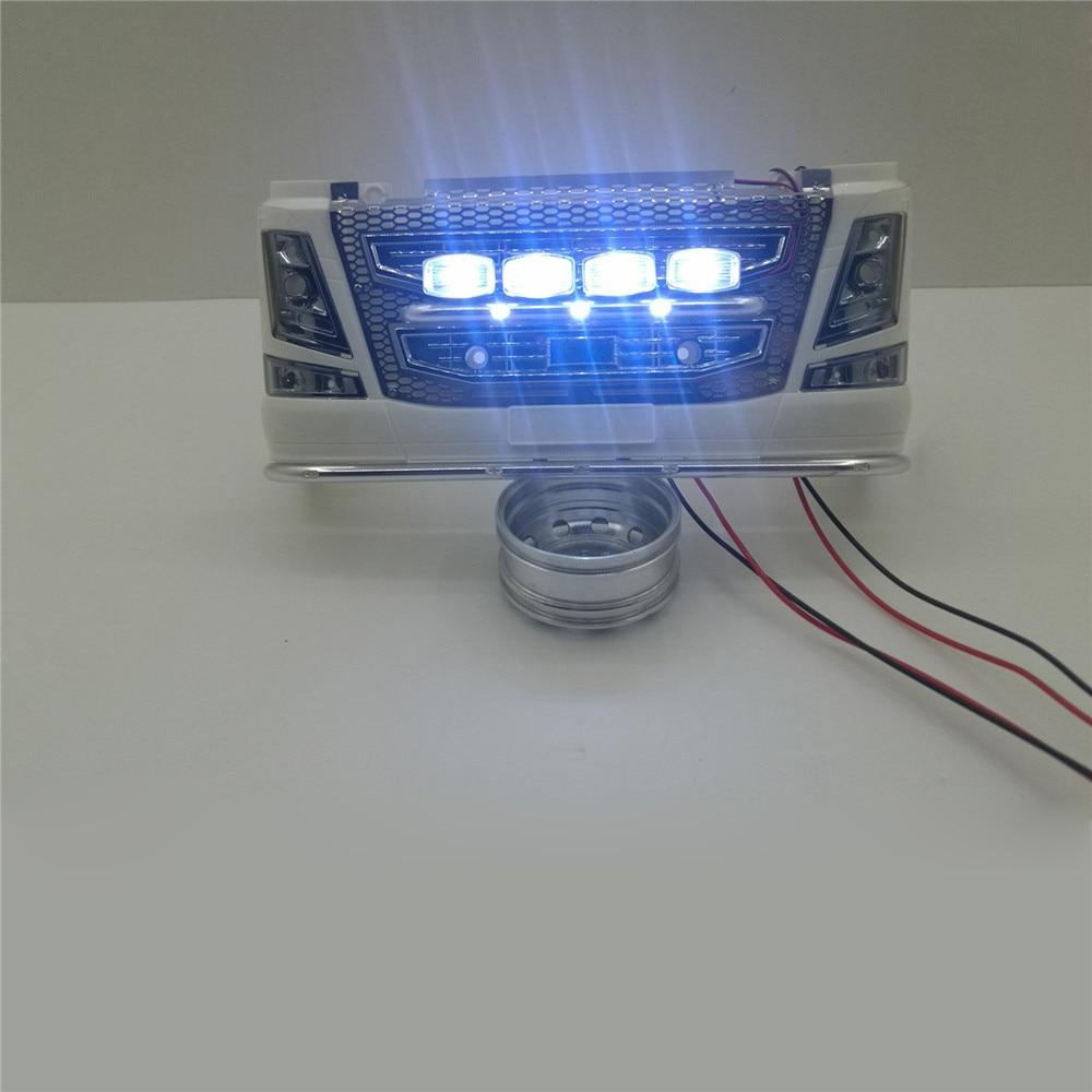 Передний светодиодный фонарь для 1/14 TAMIYA Volvo 56360 Actros SCANIA R620 56323 RC тягач прицеп грузовик запчасти аксессуары