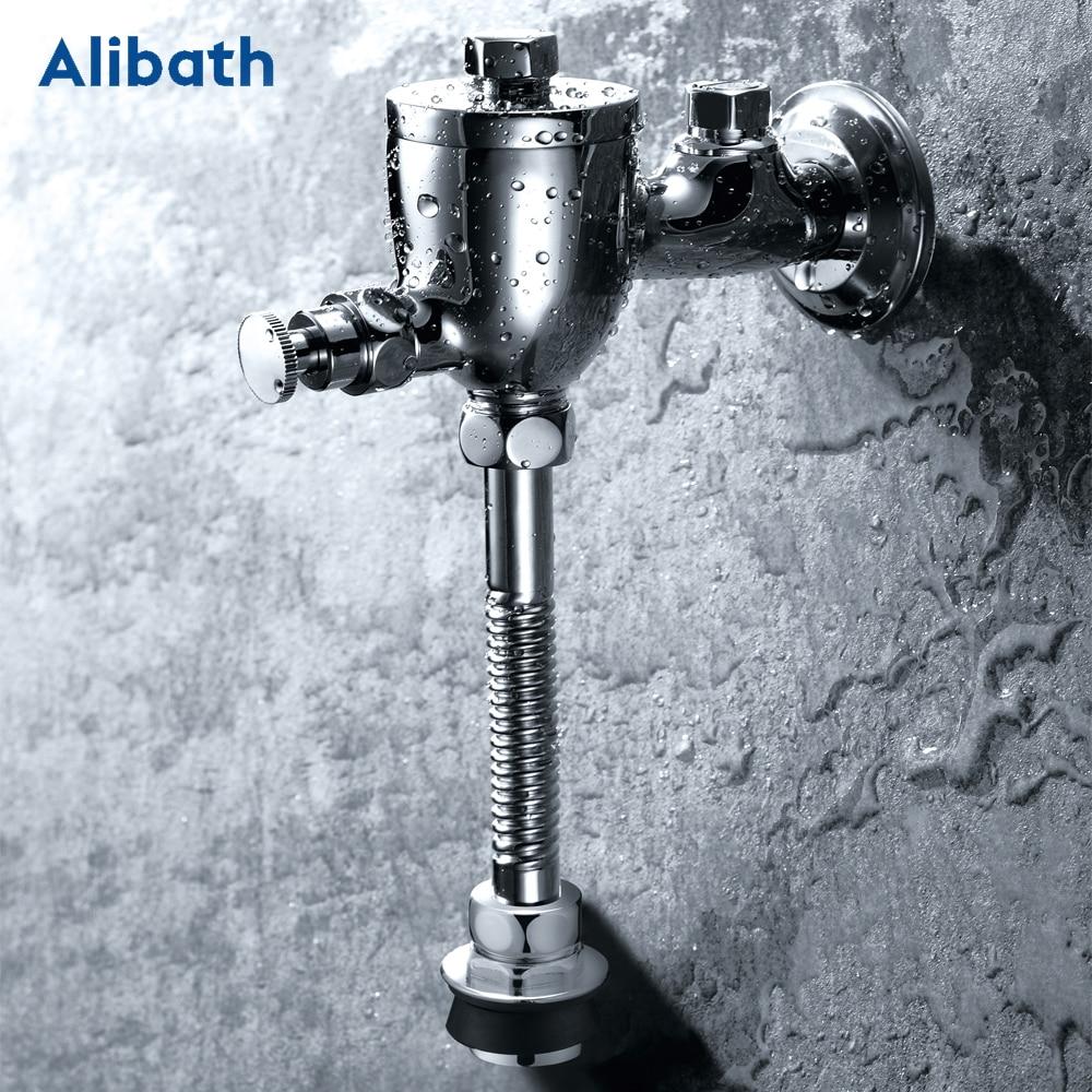 عالية الجودة النحاس الوقت دالي زر مبولة زر دافق ، تأخير البول صمام المرحاض صمام فندق اليد الضغط التنظيف أداة.