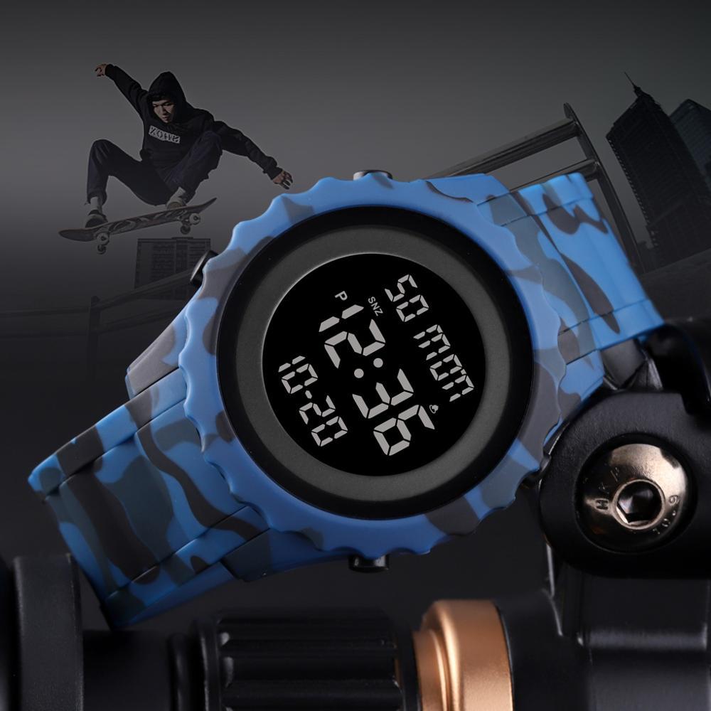 SKMEI Brand Luxury Digital Wristwatches Sports Watch Waterproof Countdown Alarm Chrono LED Clock Mens Watches Relogio Masculino