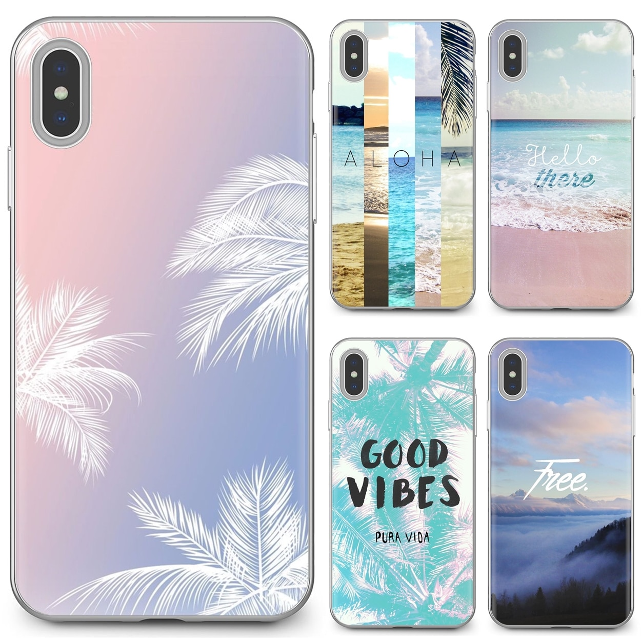 Aloha verano rayas papel Slim silicona cubierta de teléfono de TPU suave para Huawei Honor Y5 2018 2019 8S 9X Pro 20 10 10i Lite