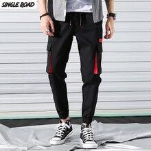 SingleRoad Hip Hop Joggers hommes 2019 mode sarouel multi-poches rubans homme pantalons de survêtement Streetwear décontracté hommes pantalons