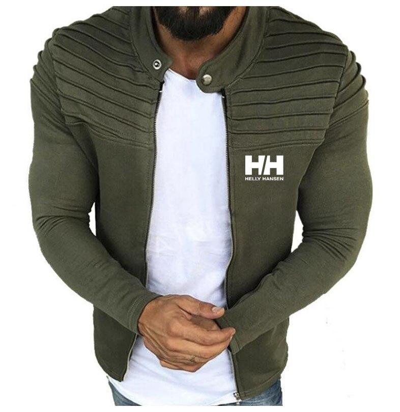 Moda masculina hh fino jaquetas casacos com zíper bombardeiro jaqueta primavera outono masculino exército ao ar livre roupas casuais streetwear