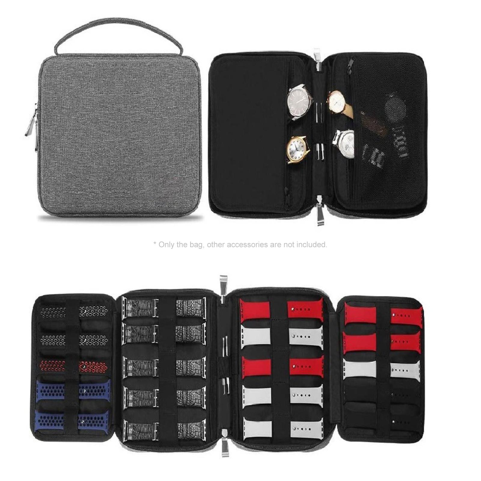 HOT SALES!!! New Arrival Portable Watch Band Strap Organizer Storage Bag USB Cable Carrier Travel Ha