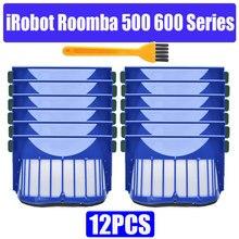 HEPA brosse filtre de remplacement pour iRobot Roomba 500 600 série 536 550 551 620 650 aspirateur pièces accessoires