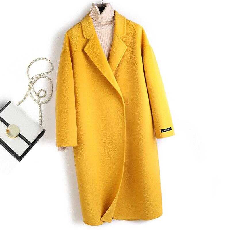 2020 mulheres Caem de Moda Abrigos Mujer Invierno Casacos e Jaquetas Mulheres Outono Inverno Mulheres Casaco De Lã Longo Casaco Feminino