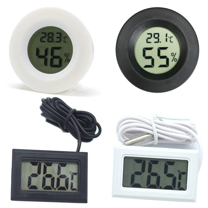 High Accurately Digital Thermometer Hygrometer Meter For Reptile Turtle Terrarium Aquarium Tank Acce