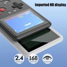 Yeni video oyunu konsolu dahili 168 klasik oyunlar 7.8MM taşınabilir Mini taşınabilir oyun oyuncu Mini el oyunları