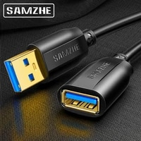 samzhe usb 3 0 extension cable male to female usb3 0 2 0 extender cable for pc tv ps4 computer laptop extender data cord