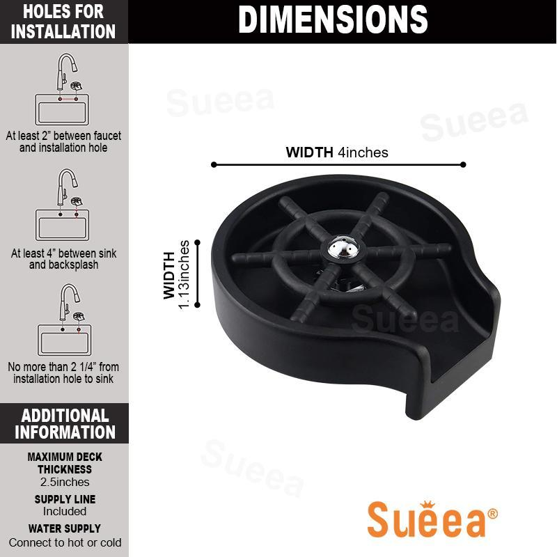 AliExpress - Sueea® Faucet Glass Rinser For Kitchen Sink Bar Glass Rinser Coffee Pitcher Automatic Cup Washer Bottle Rinser Wash Cup Tool