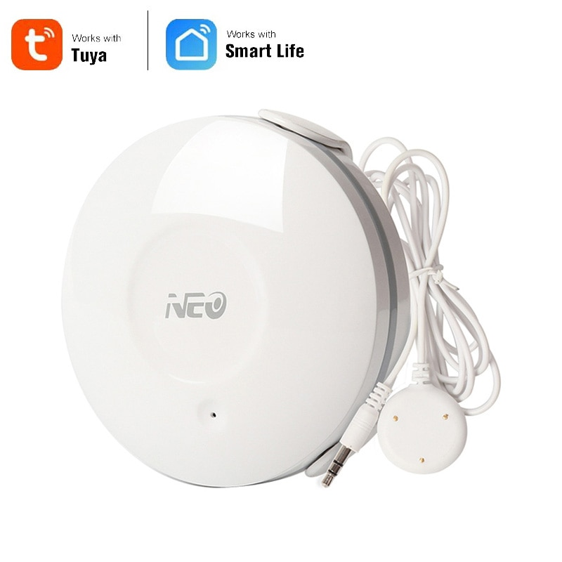 NEO Coolcam-مستشعر تسرب المياه الذكي ، شبكة WiFi ، كاشف تسرب المياه اللاسلكي ، إخطار التطبيق ، إنذار التسرب ، أمن الوطن