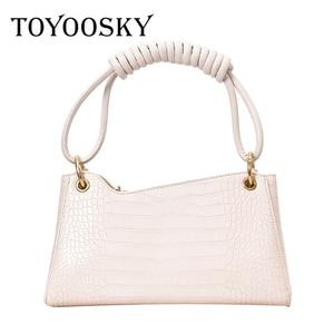 TOYOOSKY Retro Alligator Pattern Women Messenger Handbags sac PU Leather Casual Solid Zipper Shoulder Bags Bolsa Mujer 2020