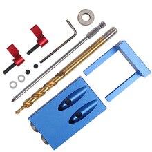 Système de poche pour la travail du bois, Kit de gabarit pour trous, de Style Mini, pour la menuiserie et le foret à gradins