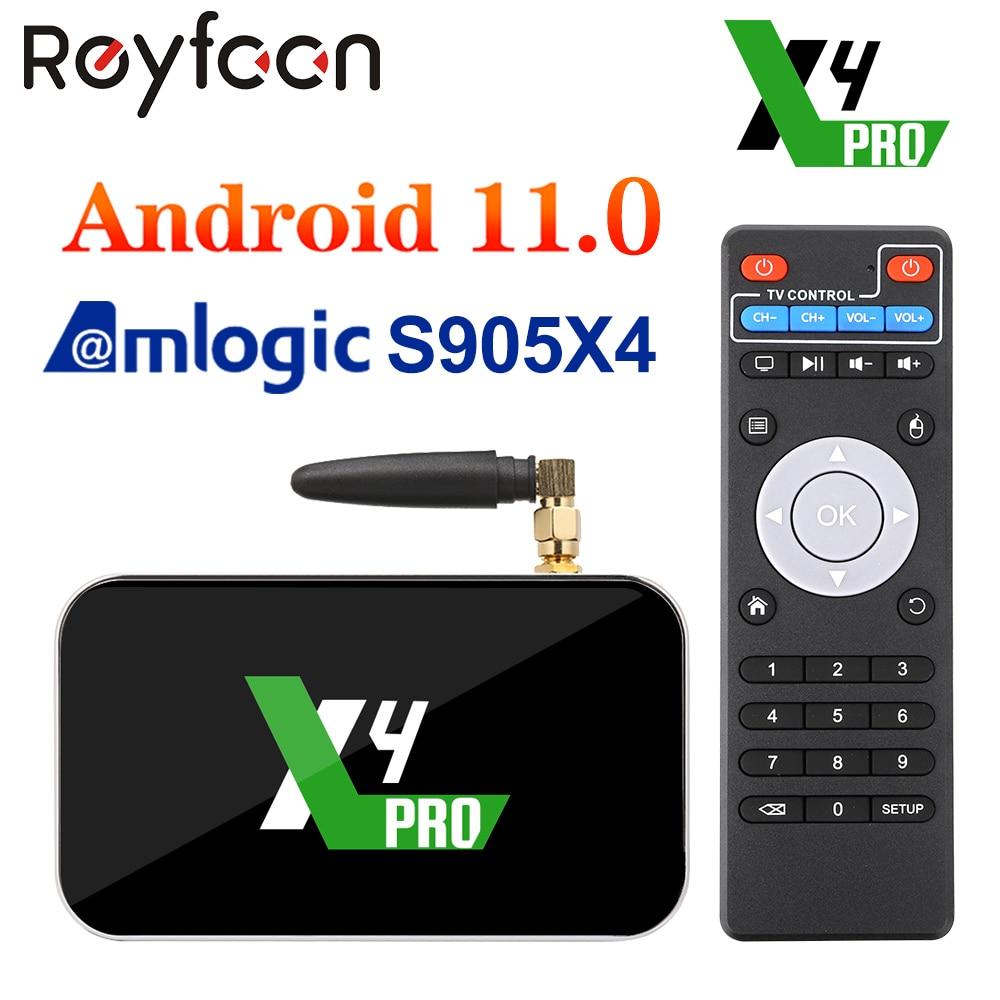 X4 برو صندوق التلفزيون أندرويد 11 Amlogic S905X4 4GB DDR4 32GB دعم AV1 CEC HDR 1000M OTT 4K 5G المزدوج واي فاي 1000M مشغل الوسائط PK X3 برو